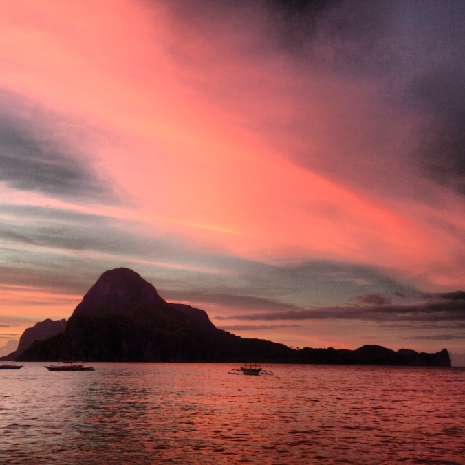 Sunset near Cadlao Island.