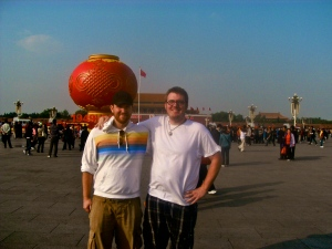 Billy (right) and I in Tiananmen Square in October 2011.