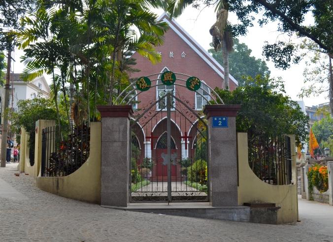 One of the many churches on Gulangyu Island.