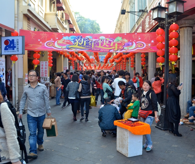 Gulangyu was very crowded, despite unseasonably cool weather.