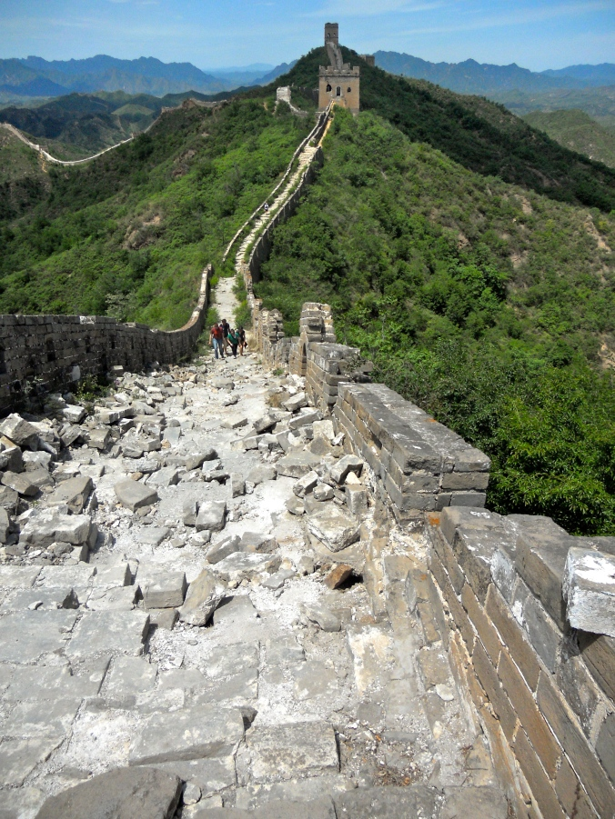 The Great Wall, where if you're not careful the next step could be your last.