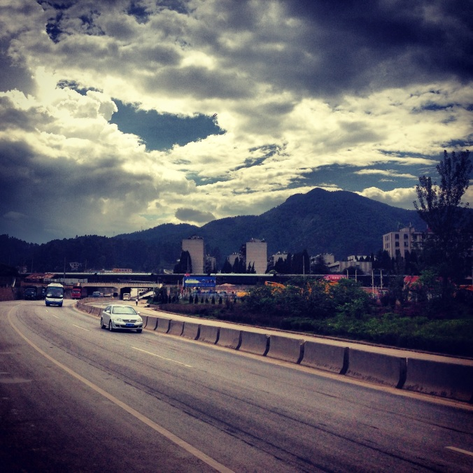 The final leg of the journey to Xishan mountain. Getting there took about an hour from the city center.