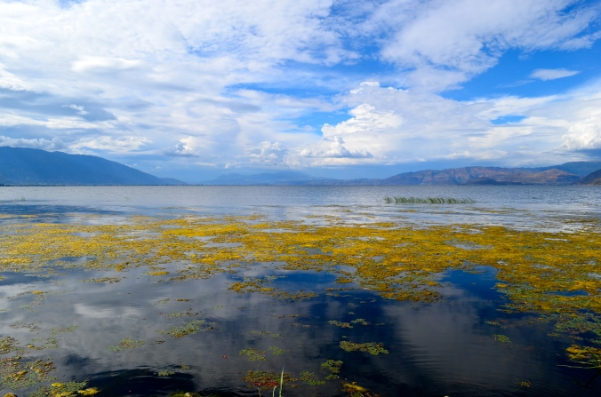 Erhai Lake near Dali is the seventh-largest freshwater Lake in China.