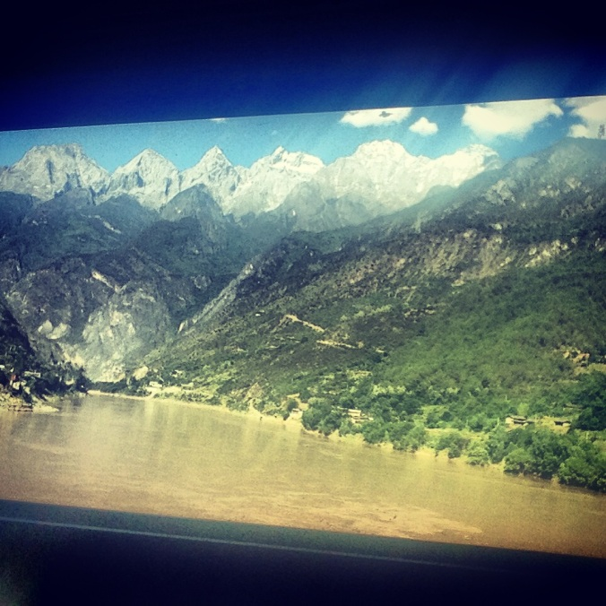 This is as close as I got to the Tiger Leaping Gorge, one of the world's deepest river canyons. I had planned to hike the gorge, but the trail was closed because of a landslide.