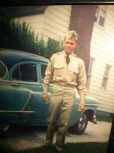 Grandpa, in his military uniform.