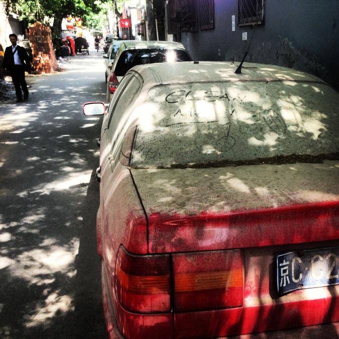 A car after a dust storm last summer.
