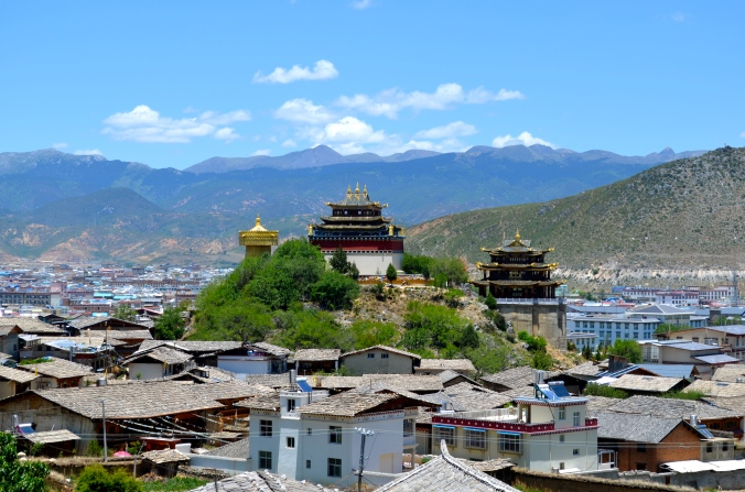 The ancient town of Dukezong, as it looked in June when I visited.