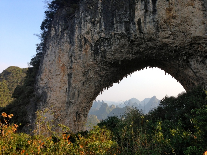 The arch on Moon Hill, as seen from the viewing platform.