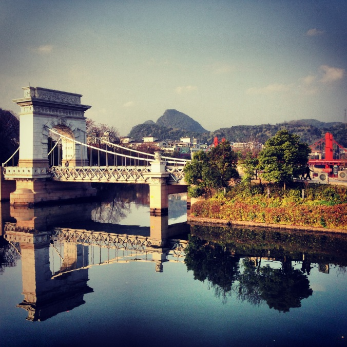 A bridge in Guilin.