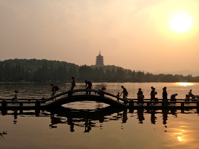 A famous bridge on Xihu Lake.