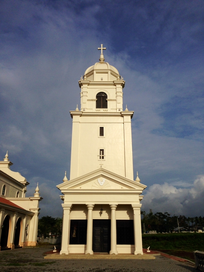 A brand-new Catholic Church. Around 80 percent of Filipinos are Catholic.