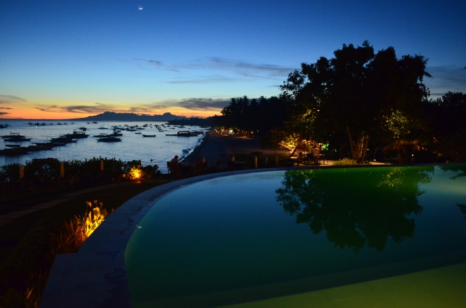 The resort I stayed at, Amorita, has a beautiful infinity pool overlooking Bohol Sea.