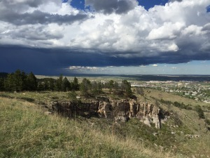 A stormfront moves in near Rapid City.